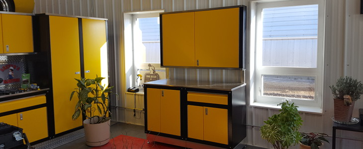 Yellow/Black Iconic Cabinets